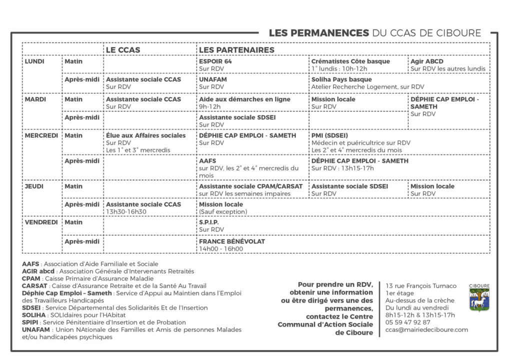 permanences ccas ciboure